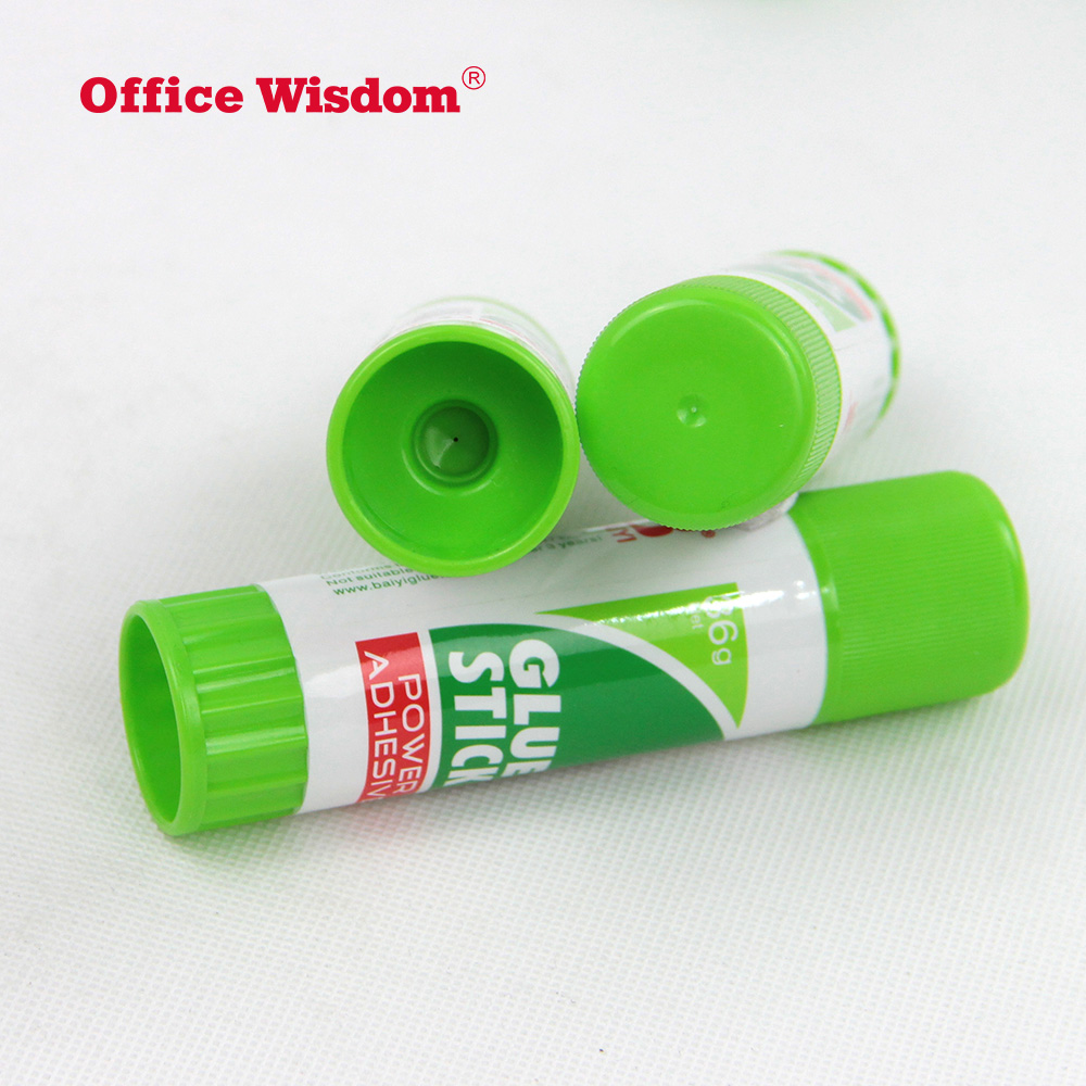 Manufacturer wholesale round shape 36g white glue stick for school and office High quality strong adhesion PVA solid glue stick