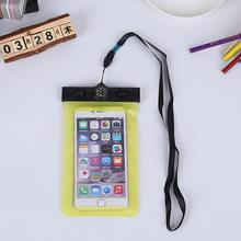 Универсальный Компас Водонепроницаемый чехол сумка для iphone 7 6 6s plus 5s для Samsung S6 Edge redmi Note3 pro Плавание чехол Аксессуары(Китай)