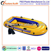 Yellow 2 person fishing inflatable boat, Inflatable fish boat