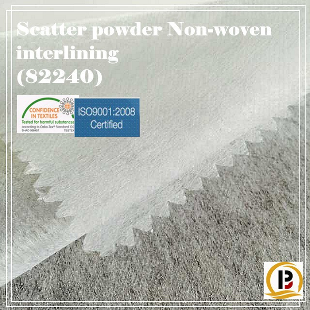 Nonwoven fabric/China wholesale fusible interlining/Scatte powder tearaway non woven fabric for garment/shoe/cap/bag(#82230)