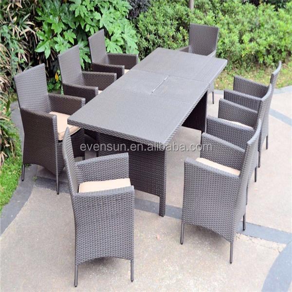 야외 체육 등나무 8 개 식탁 세트-등나무 / 위커 가구 세트 -상품 ...