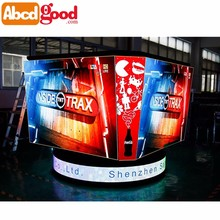 360 degree view combination LED video display screen