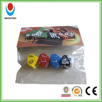 Colored 10 sides number dice set