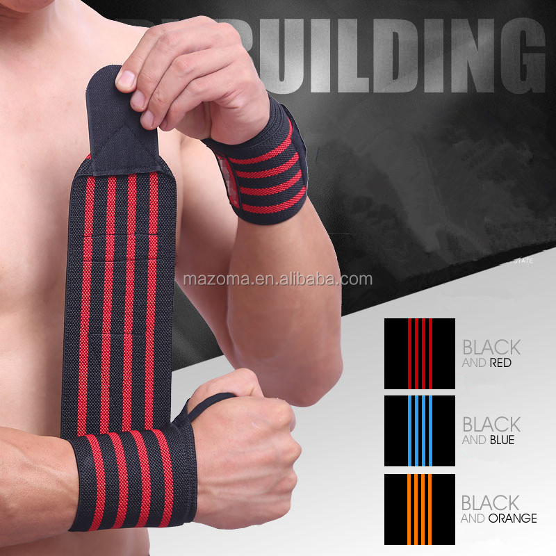 Crossfit gym fitness weight lifting / power lifting wrist wraps