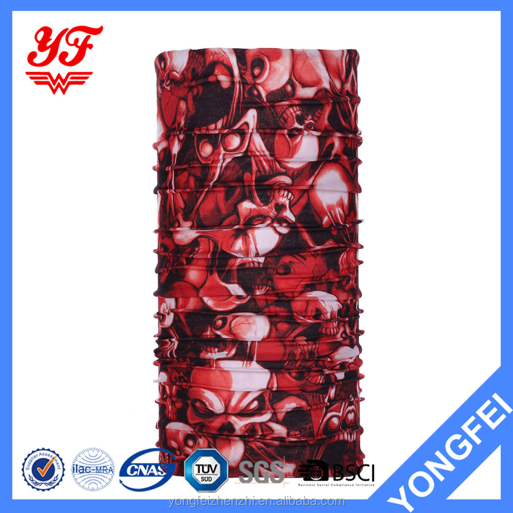 Red ghost 12 in 1 multi use magic polyester bandana tube