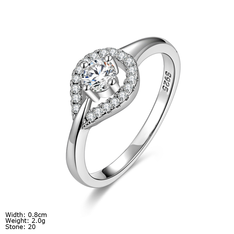 rza2-052 925 silver ring weeding ring women jewelry engagement ring