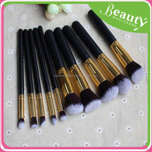 2015 high quality 10pcs premium synthetic makeup brush set ,ADE002, make up brushes