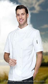 Bianco Maniche Corte Giacca Cuoco 72040047ea2c