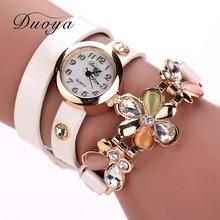 Elegantné dámske hodinky s ozdobným opaskom a kvetinkou z Aliexpress