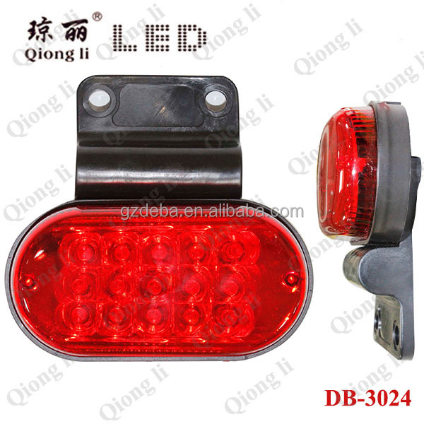 24V Forklift lorry truck LED side marker light 24 volt truck lights
