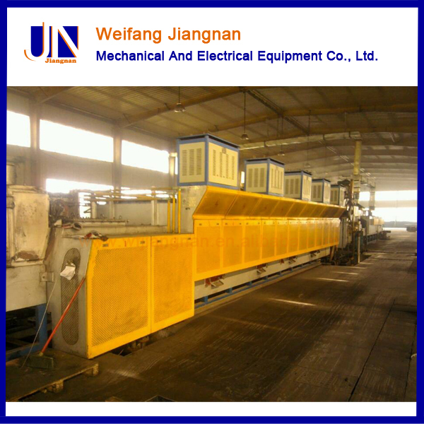 Jiangnan continuous mesh belt furnace used for queching and tempering heat treatment