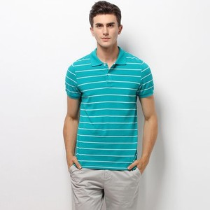 high quality mens polo collar yarn dyed striped t shirt wholesale