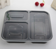 1000ml 3 compartment disposable food grade plastic bento lunch box