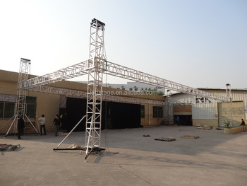 Ground Support Aluminum Backdrop Truss Roof System - Buy Ground Support  System Truss,Backdrop Truss System,Aluminum Truss Roof System Product on