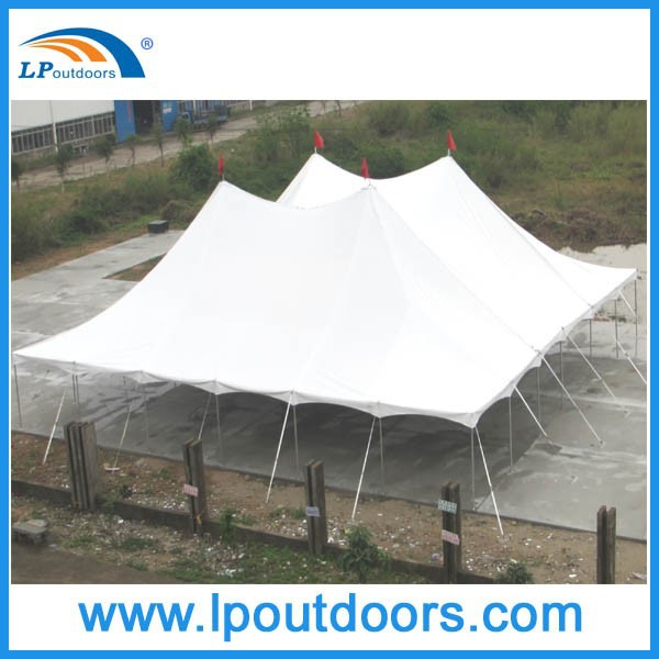 60' width Outdoor cheap steel peg pole party marquee tent for event