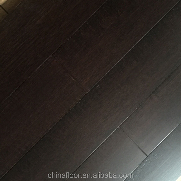 UV coating smooth surface dark color solid bamboo flooring