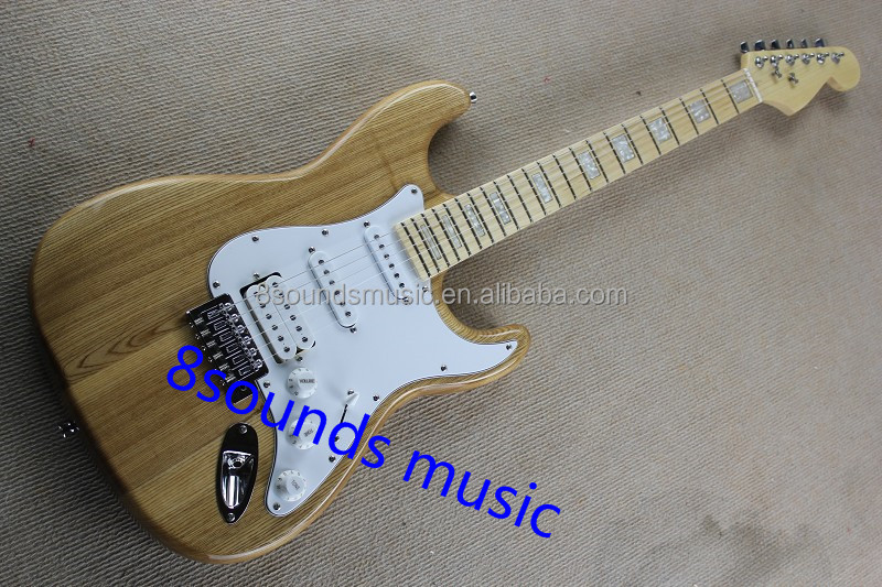 ash wood electric guitar ST style guitar wholesale electric guitars