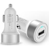 Quick Charge 3.0 mini cell phone car battery charger for iPhone 6S Plus 6 Plus Samsung Galaxy S7 S6 Edge Plus