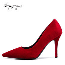new style 2 colors dress shoes wholesale women footwear Genuine leather wedding Bride shoes Spring Summer High Heel Pumps