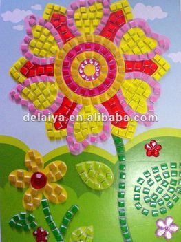 Children Diy Mosaic Crafts For Flower Buy Craft Work Diy Crafts For