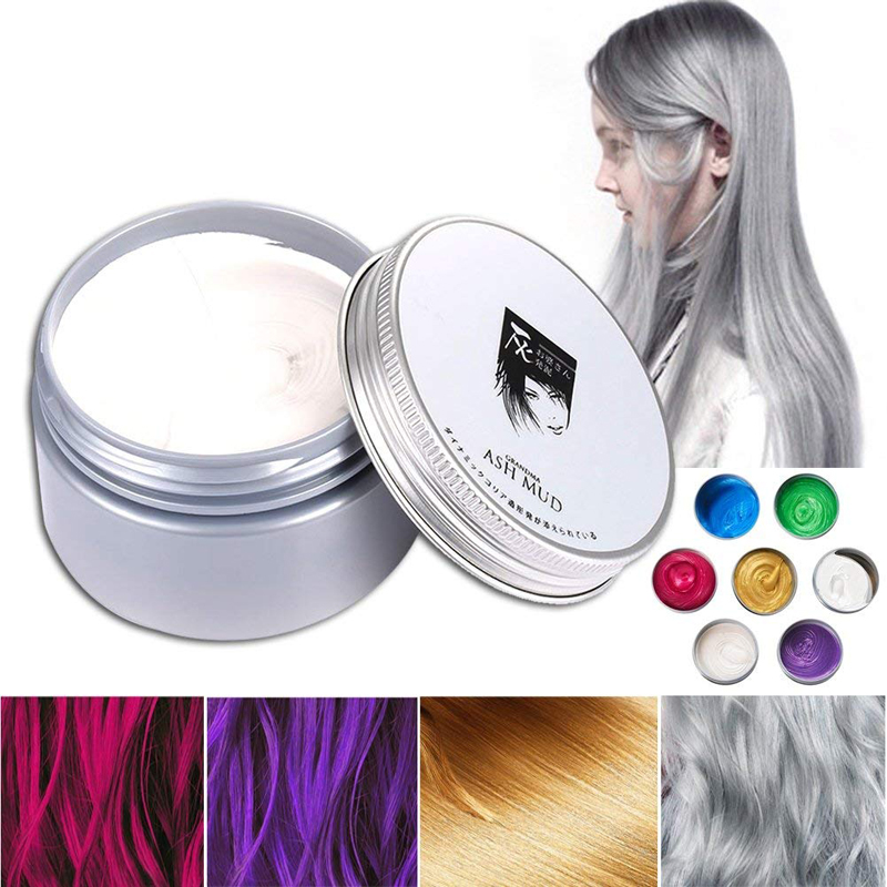 Professional Temporary Hair Dye Pomade Disposable Washable Styling Color Hair Wax Clay
