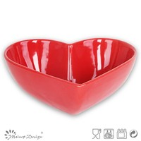 Heart shape stoneware bowls,wholesale high quality bow