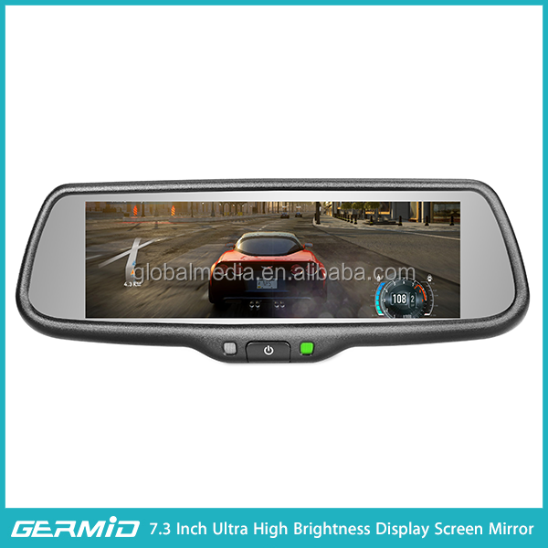 7.3 inch RCD mirror monitor rear view camera Hybrid Full Display Mirror germid