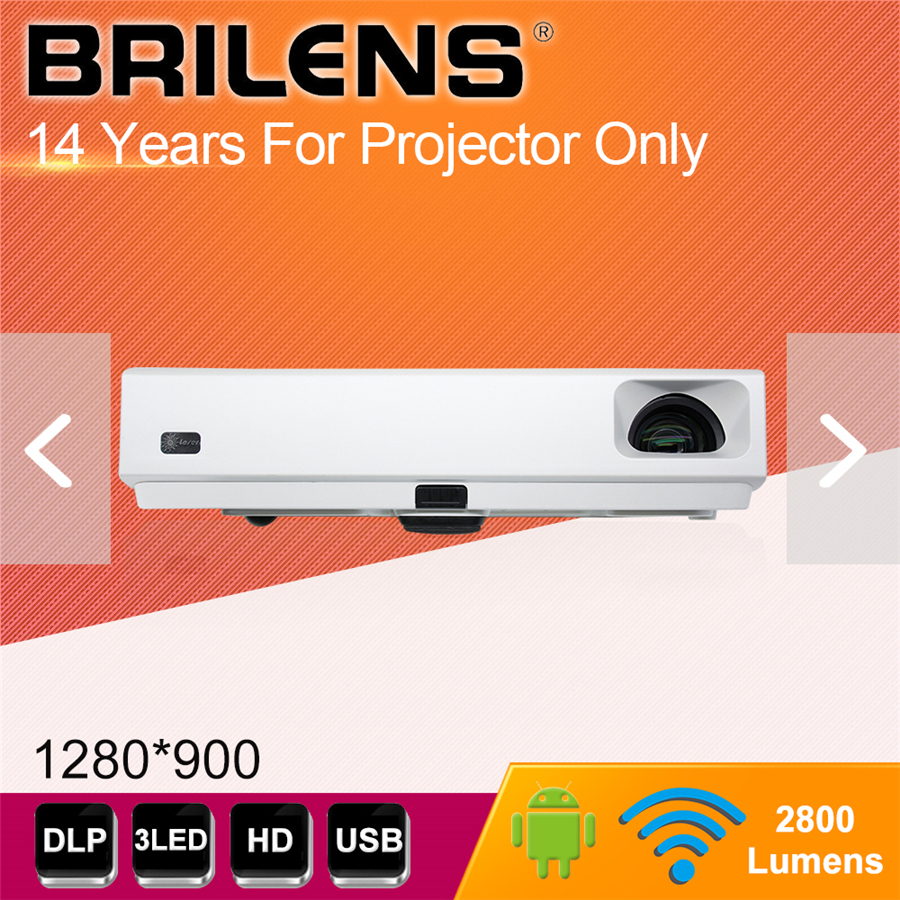 Brilens TH1280 intelligente smart 3d 3led Wifi bluetooth portatile chargable Android dlp proyector beamer