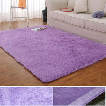 Modern Thick Fluffy Plush Home Rug Custom Plush Fuzzy Shag Carpet Rugs For Living Room Bedroom Nursery Floor