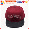 Customed OEM Flat Brim Snapback Caps Your Own Snapback Cap