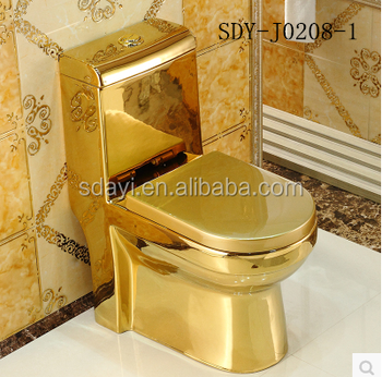 Golden Ceramic Color Luxury Wc Toilet Bowl Gold Color
