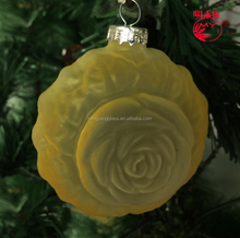 Blown glass flowers glass figurines christmas tree ornaments