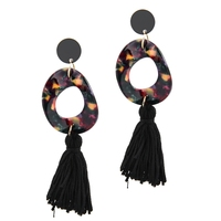 Boho Fringe Earrings Gold Plated Big Waterdrop Stud Tassel Earring Ear Jewelry