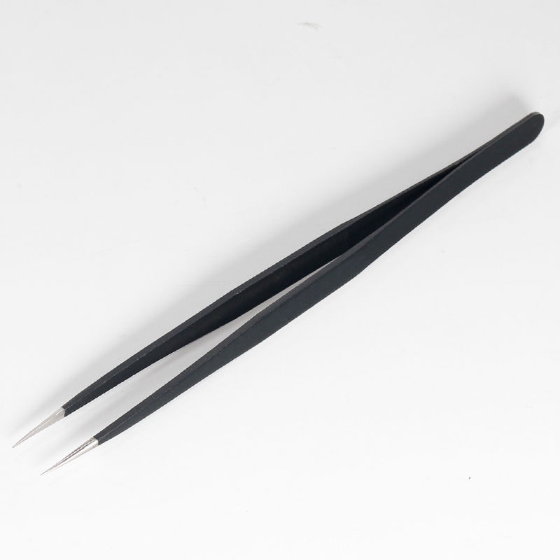 YH-T2-11 stainless steel anti-static straight tine tweezers
