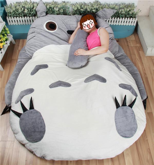 acheter grande taille bande dessin e grande totoro lit coussin tatami matelas en. Black Bedroom Furniture Sets. Home Design Ideas