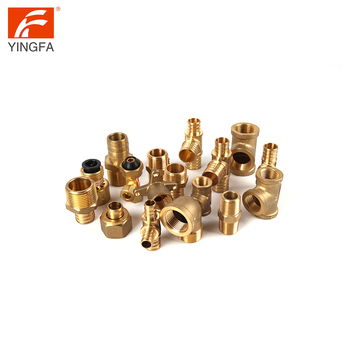 Thicken 4 way 5 way machined union elbow slide copper 3 4 compression brass fitting