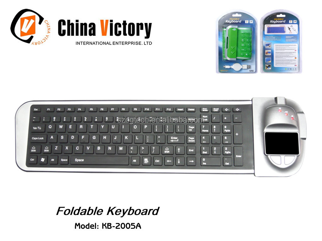 mini keyboard/flexible waterproof keyboard with touch-mouse.