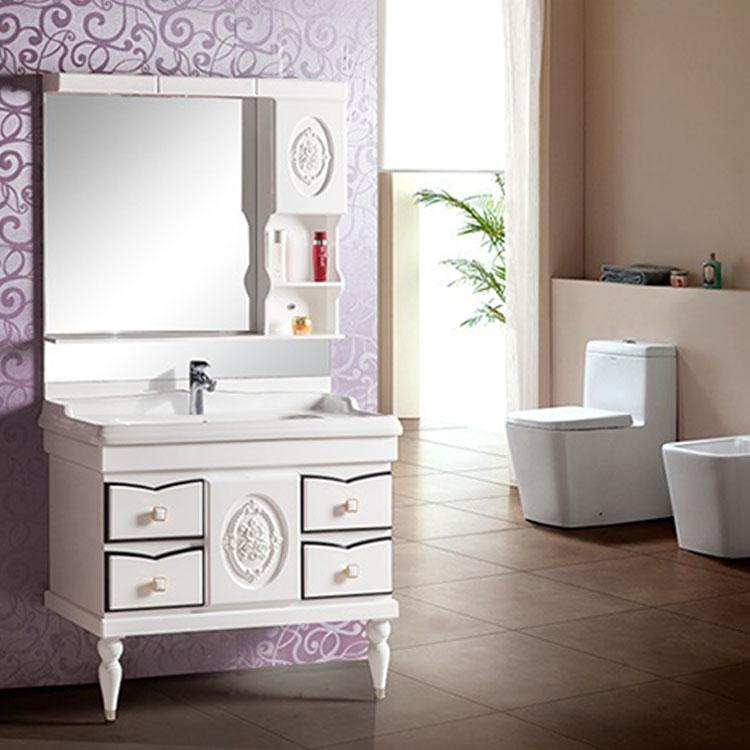 Mejor precio barato de calidad superior cuarto de ba o vanidad del gabinete de madera barata - Precio cuarto de bano ...