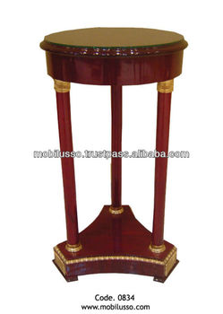 French Reproduction Antique Round Side Table Pedestal Bedside Product On Alibaba