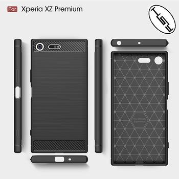 innovative design 5d09e 4cbbf Huyshe For Sony Xperia Xz Premium Mobile Phone Tpu Case,Carbon Fiber Back  Cover For Sony Xz Premium Newest Model Accessories - Buy For Sony Xperia Xz  ...