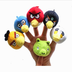 2018 wholesale custom mini animal plush finger toys puppets plush toys soft finger puppets toys