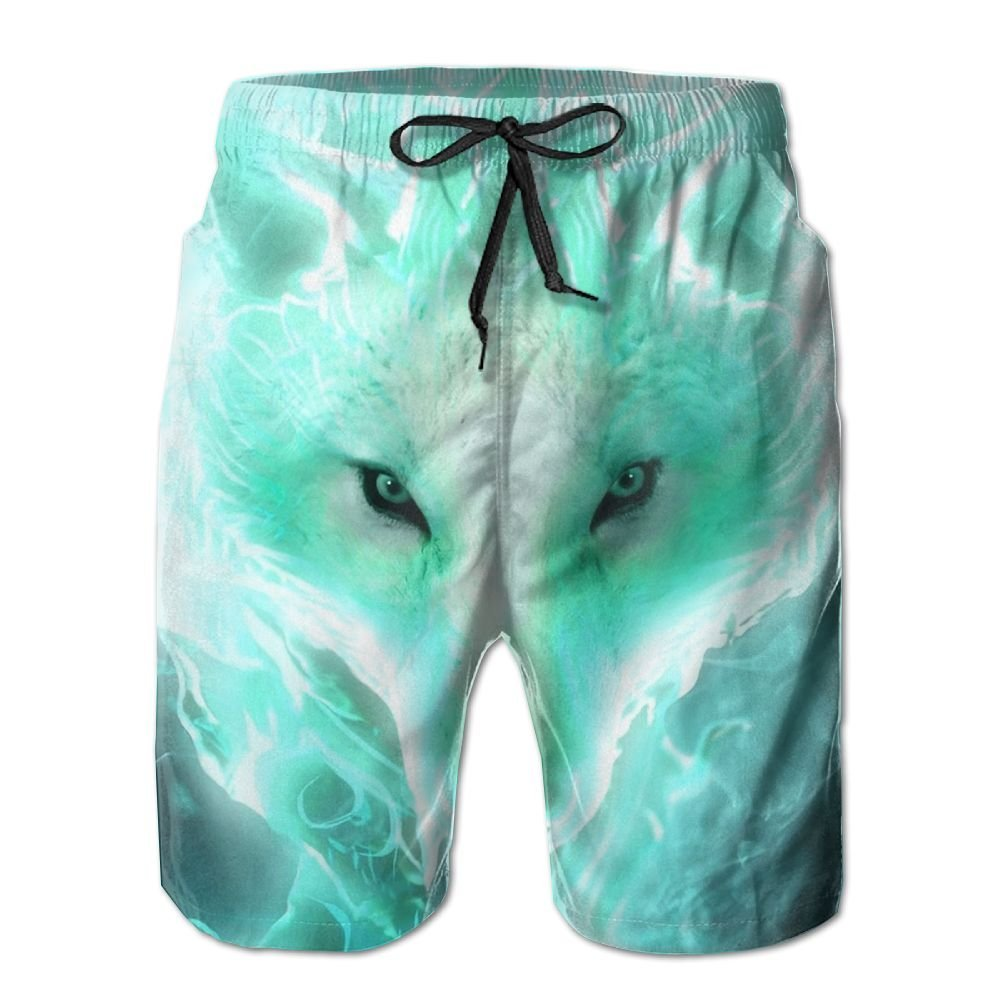 Abstract Art Jellyfish Light Green Handsome Fashion Summer Cool Shorts Swimming Trunks Beachwear Beach Shorts
