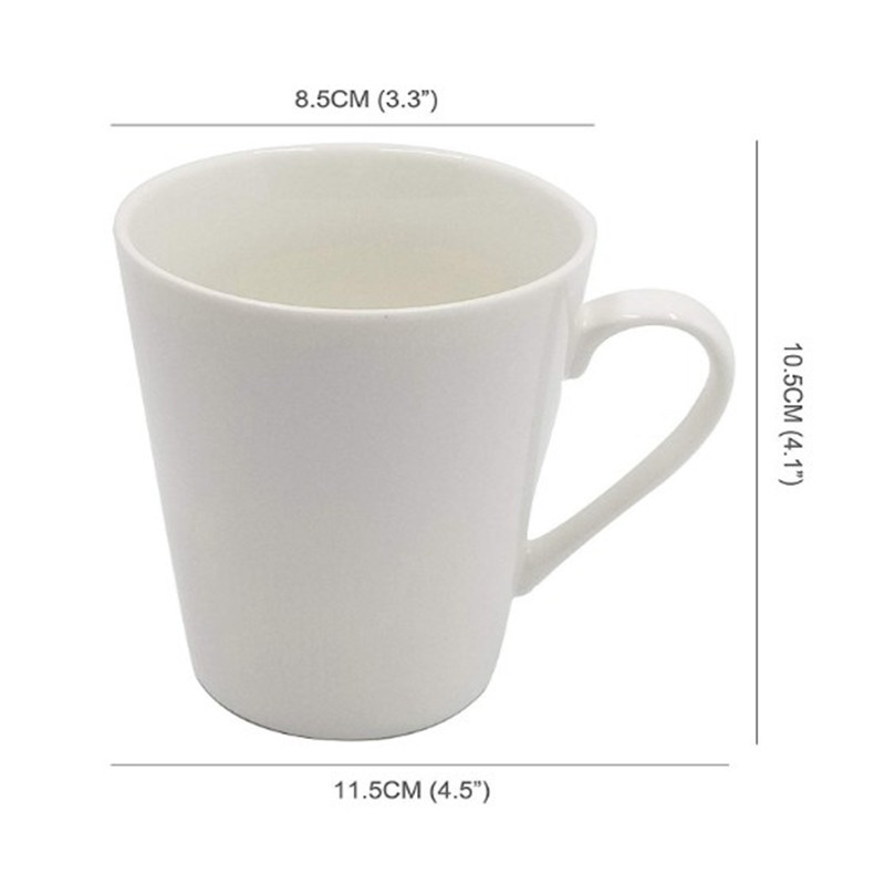 Oempromo cheap reusable 10oz plain white ceramic coffee mug