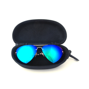 2017 top quality elegant glasses box protective printing Canvas zipper sunglasses case