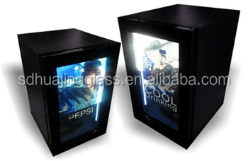 new design transparent lcd glass door mini fridge freezer - Glass Door Mini Fridge
