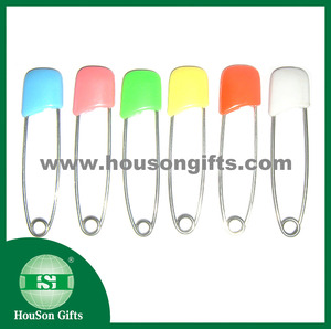 Colored safety pin decorative coloured safety pins stainless steel safety pins with plastic head