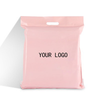 eco friendly custom printing logo double tape matte poly pink mail envelope courier shipping plastic package bag with handle