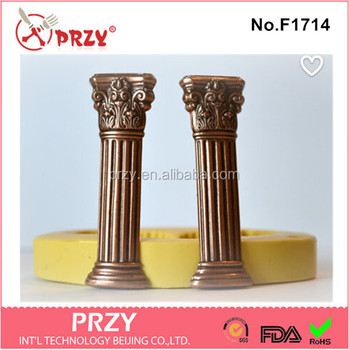 F1714 Silicone Roman Column Pillars Fondant Sugar Paste Bead Mold Clay  Mould Decorating Silicone Molds Cake Deco - Buy Home Stone Decoration