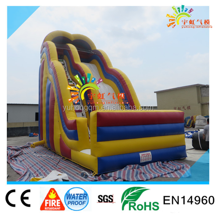 High Quality Big Inflatable Slide With Wave Design Giant Dry Slide With 7m High Adult Slide