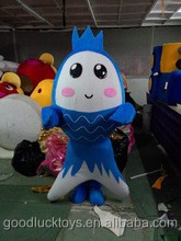2015 latest blue fish mascot costume blue fish cartoon costume
